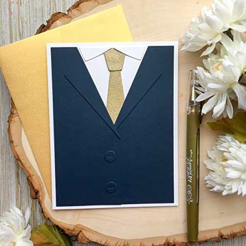 Amazon Com Birthday Card Handmade Card Fathers Day Card Tuxedo