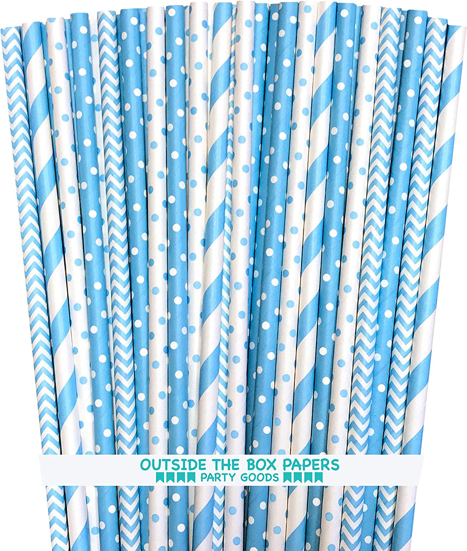 Outside the Box Papers Light Blue El Paso Mall Dot Chevron Pape Ranking TOP2 Polka Stripe