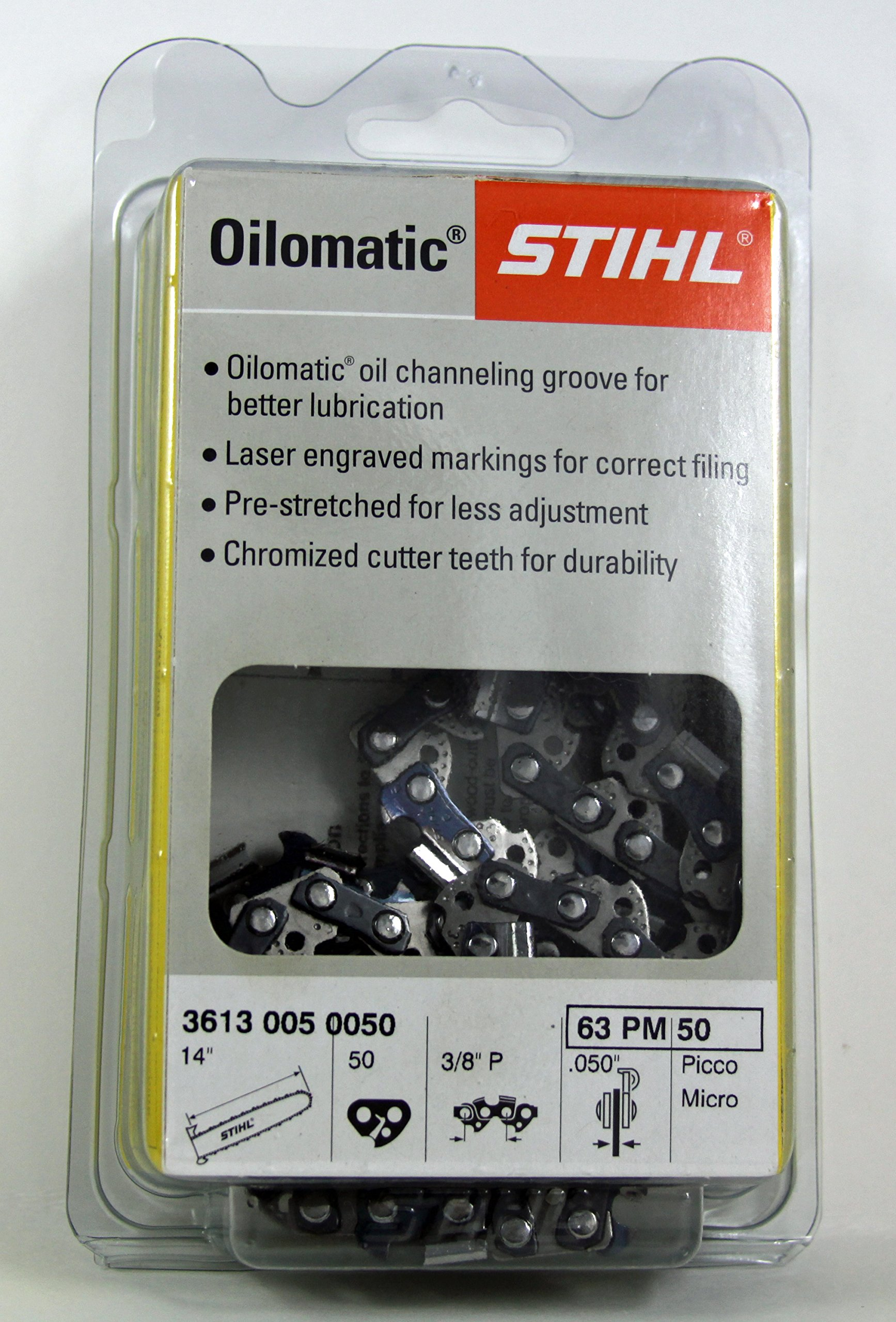 63 PM-50 STIHL 14 Picco Micro -Chainsaw Chain - 50 Drive Links - 3/8 Pitch - .050 Gauge
