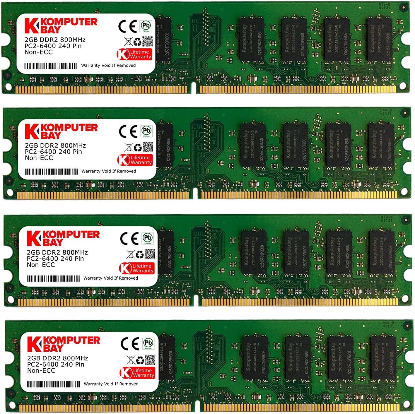 240-Pin SDRAM PC2 5300 KOMPUTERBAY 8 GB Memory Module 8 Dual Channel Kit DDR2 667