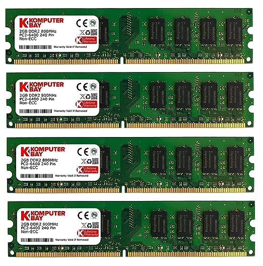1100 opinioni per Komputerbay KB_8GBAM2_4x2GB800_251- Modulo di memoria DIMM DDR2 da 8 GB (2 x 2