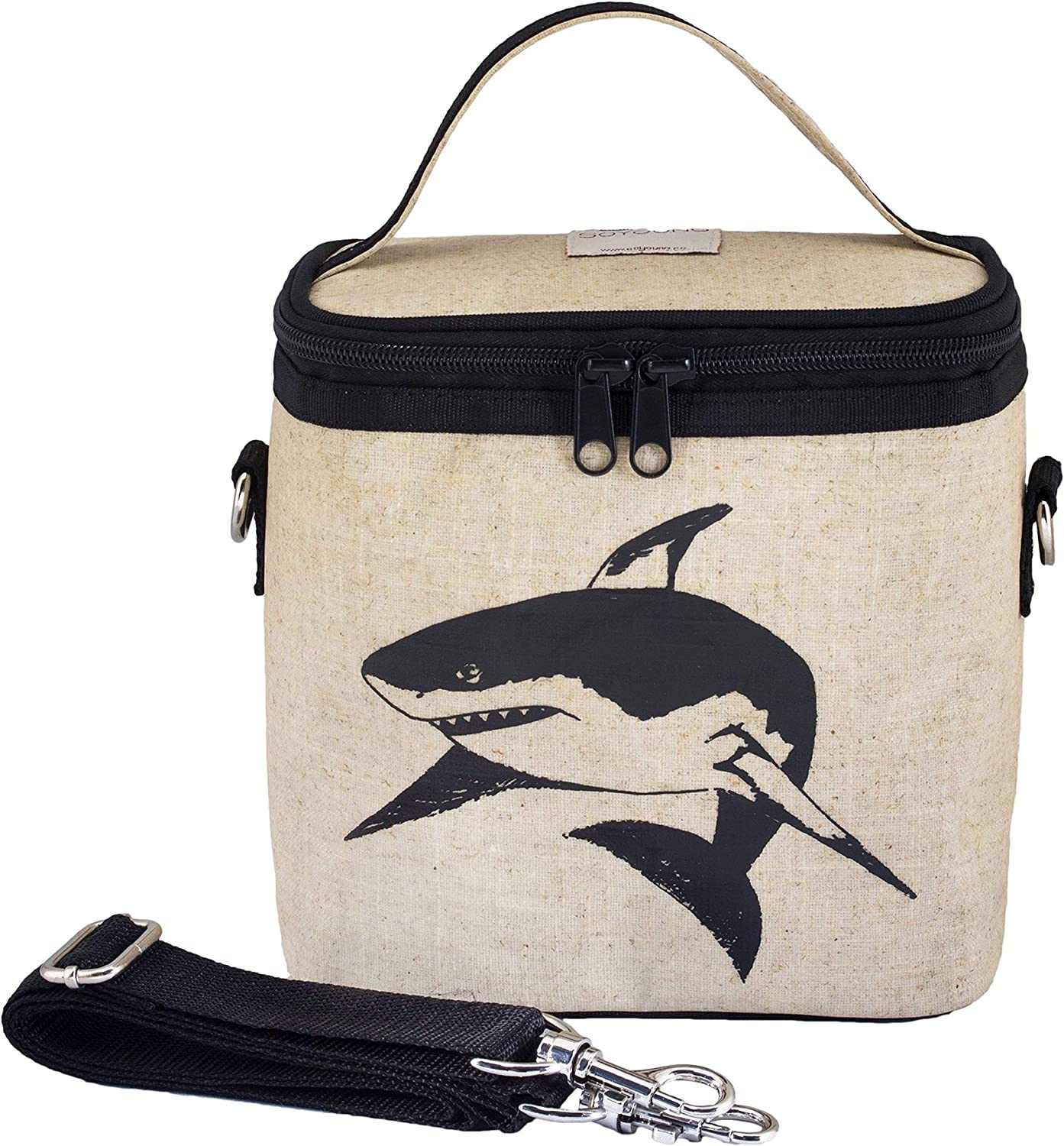 SoYoung Small Cooler Bag - Lunch - Raw Linen, Eco-Friendly, Retro-Inspired and Easy to Clean