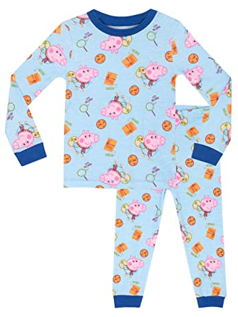 9975dc7dc4 Peppa Wutz Jungen George Wutz Schlafanzug - Slim Fit - 104: Amazon ...