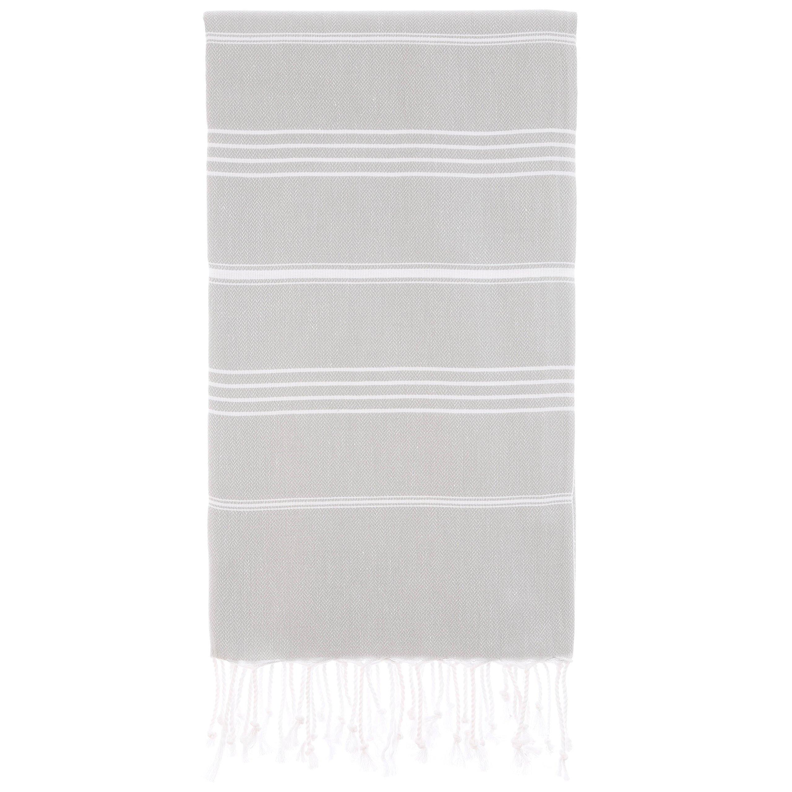 Cacala Toallas de baño Turco de Serie, algodón, Plateado, 95 x 175 x 0.5 cm product image