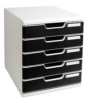 Bürobedarf ablagesysteme  Multiform Modulo Ablagebox 5 Schubladen mit Arretierfunktion A4 ...
