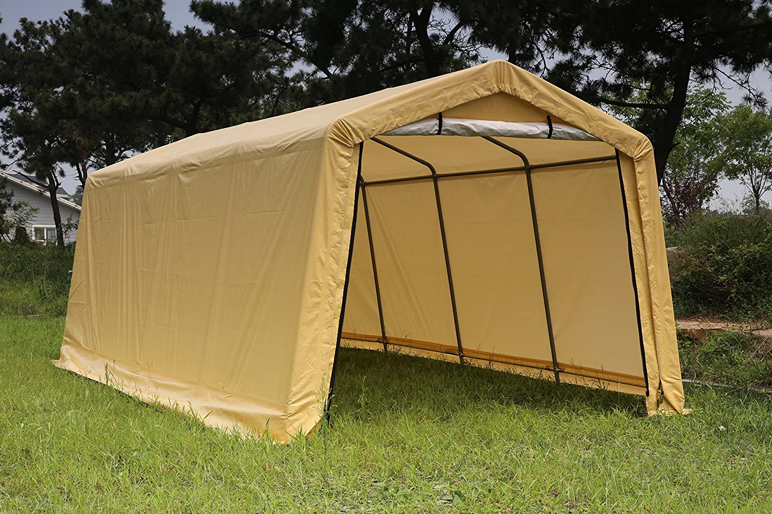 Weather Fast 103-1105Y 10x20x8 Feet Portable Shelter Carport One Size Yellow