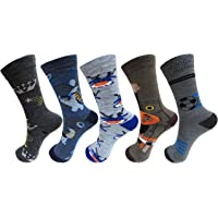 RC. ROYAL CLASS Kids Calf Length Woolen Blend Multicolored Socks (Pack of 5)(1-14 Years)