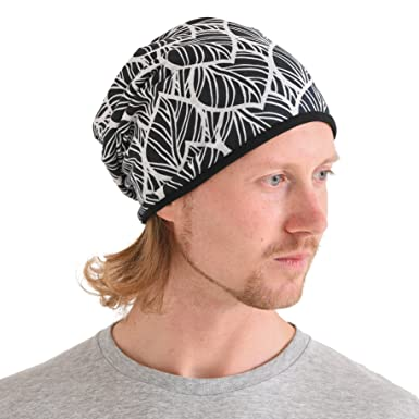 99fc67e1951 CHARM Mens Organic Cotton Beanie - Womens Slouchy Chemo Hat Summer Beanie  Winter Made in Japan Black at Amazon Men s Clothing store