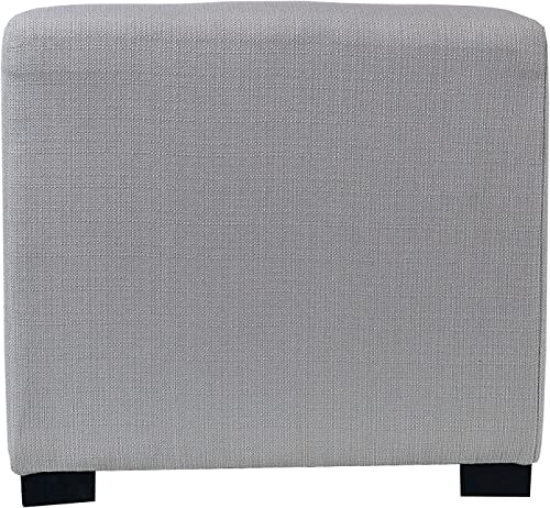 MJL Furniture Designs Merton Designer Square 4 Button Tufted Upholstered Ottoman
