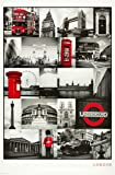 London (Red Collage) - Maxi Poster - 61 cm x 91.5 cm