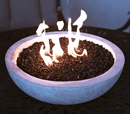 Beau Long Burning Artisan Crafted Propane Fueled Table Top Fire Bowl