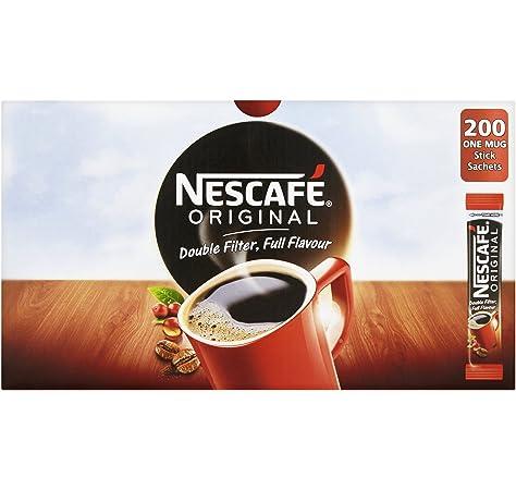 Nescaf/é Taza de caf/é color rojo rectangular