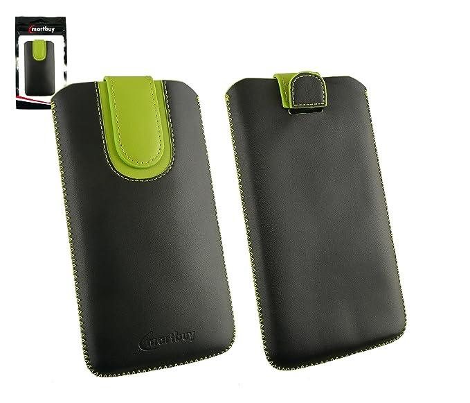 1 opinioni per Emartbuy® Nero / Verde Alta Qualità PU Pelle Custodia Case Cover Sleeve ( Misura