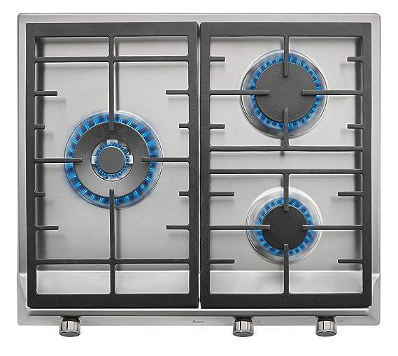 Teka EX 60 1 3G AI AL DR NAT Integrado Encimera de gas Acero inoxidable - Placa (Integrado, Encimera de gas, Acero inoxidable, hierro fundido, 1750 W, ...
