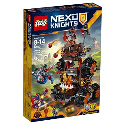 LEGO Nexo Knights 70321 General Magmar's Siege Machine of Doom Building Kit (516 Piece): Toys & Games