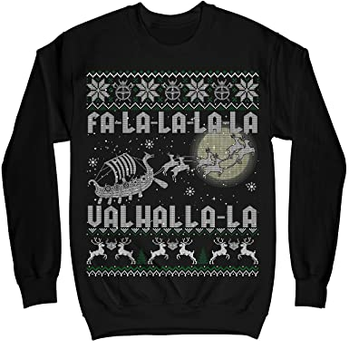 mik apparel viking fa la la la la valhalla la christmas - Viking Christmas