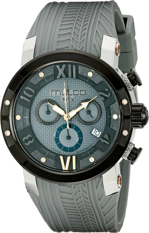 MULCO Men s MW5-3219-425 Prix Tire Analog Display Swiss Quartz Grey Watch