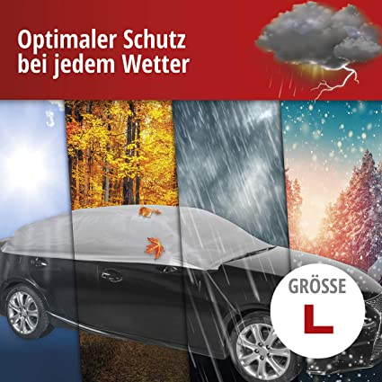 Walser Autoabdeckung Wasserdichte Halbgarage Staubdicht Mit Uv Schutz Halbgarage Größe L Auto