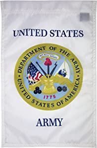 FlagSource U.S. Army Nylon Garden Flag, Made in The USA, 18x12