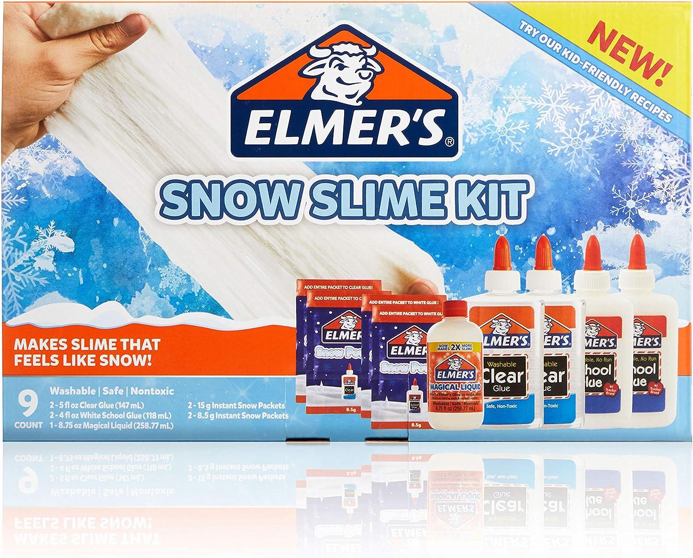 Elmers Snow Slime Kit | Slime Supplies Incluyen pegamento líquido ...