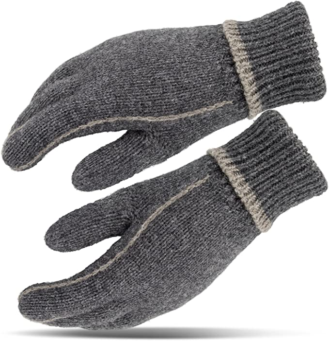 Strick Handschuhe Fingerhandschuhe Handschuh sehr warm Thermofütterung S-XXL NEU