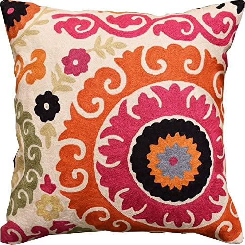 Kashmir Designs Modern Suzani Pillow Cover