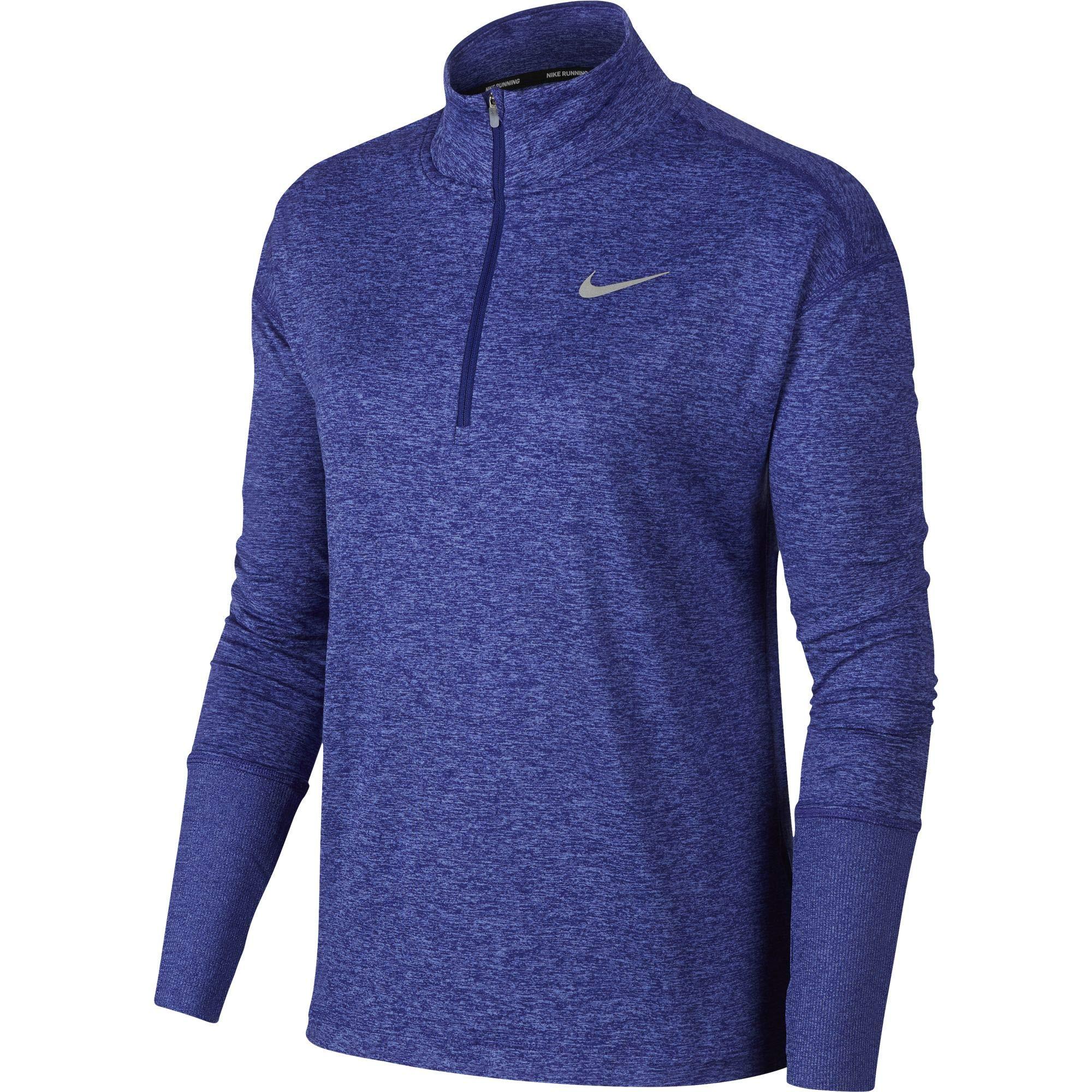 Nike Women's Element 1/2 Zip Running Top Regency Purple/Rush Violet/Heather Size Small by Nike (Image #1)