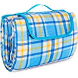 """Extra Large Picnic & Outdoor Blanket with Waterproof Backing 80"""" x 90"""""""