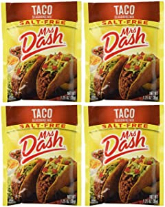 Mrs Dash Salt Free Taco Seasoning Mix (1.25 oz Packets) 4 Pack