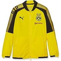 PUMA BVB para niños, Chaqueta, con Publicidad, Logo, Otoño-Invierno, Infantil, Color Cyber Yellow Black, tamaño 128