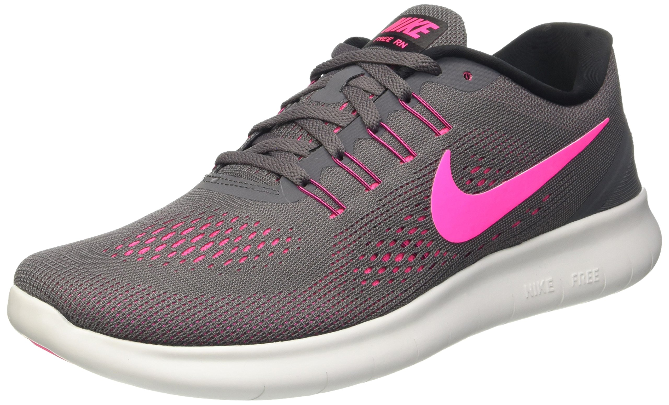 Nike Women's Free RN, Dark Grey/Pink Blast/Black/Cool Gray 6.5 B - Medium