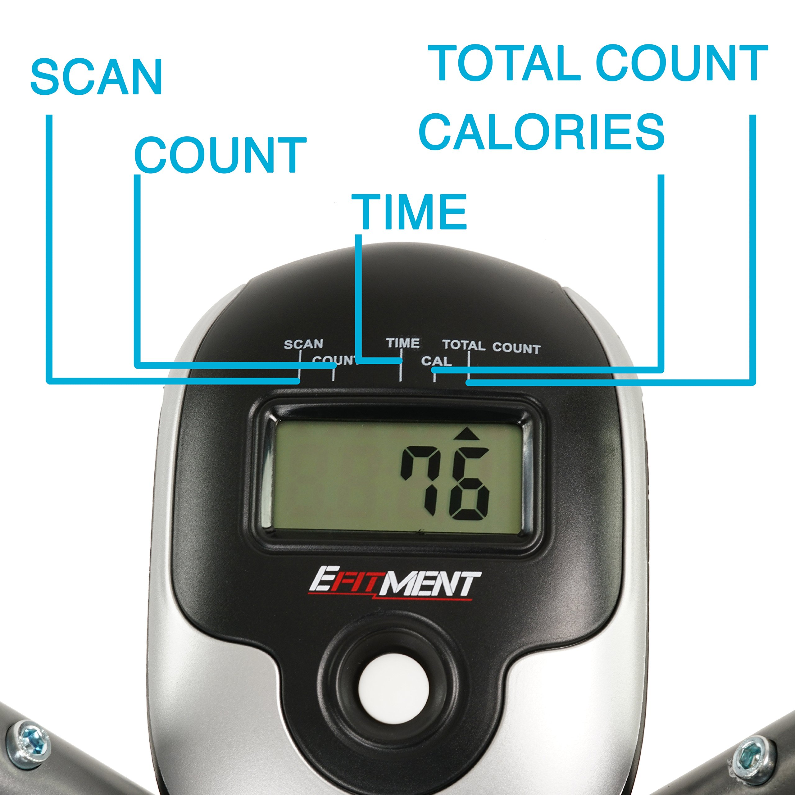 EFITMENT Air Walker Glider Elliptical Machine with Side Sway Action & 360 Motion for Exercise and Fitness - E020 by EFITMENT (Image #6)