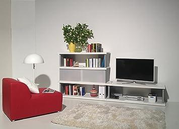 Level 5 -- Wohnwand in weiß inkl. Schiebetür - MADE IN GERMANY ...