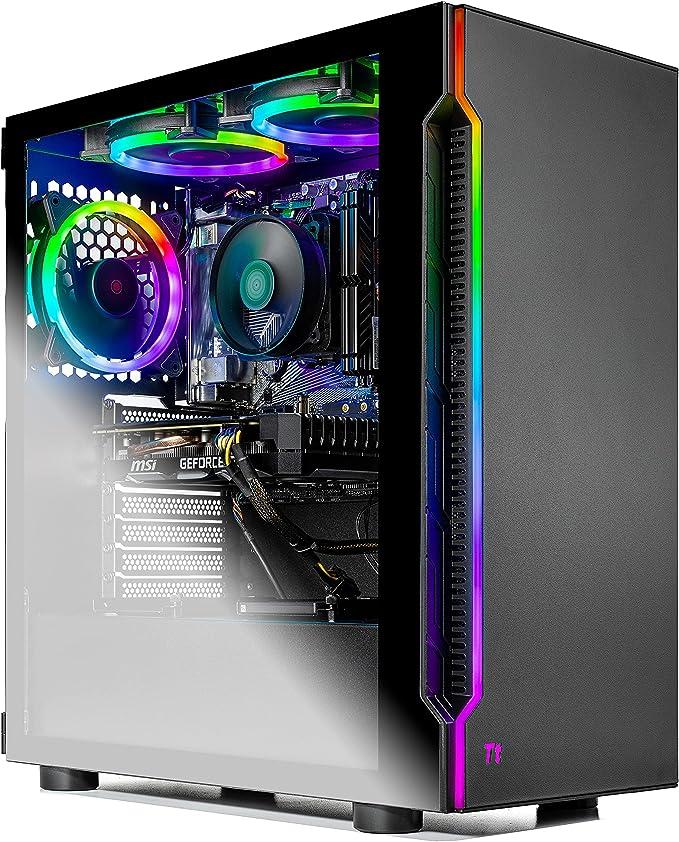 SkyTech Shadow Gaming Computer PC Desktop - Ryzen 5 3600 6-Core 3.6GHz, 1660 Super 6G, 1TB SSD, 16GB DDR4 3000, RGB Fans, AC WiFi, Windows 10 Home 64-bit, Black | Amazon