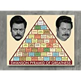 APPLEpie Parks and Recreation Ron Swanson Pyramid Workplace Comedy TV Television Show Poster High Definition Posters Standard