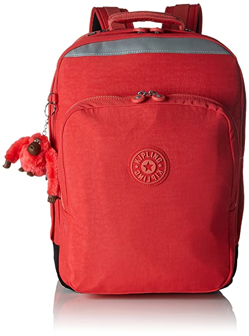 Kipling College Mochila Grande, 30 Litros, Color Happy Red C (Rojo)