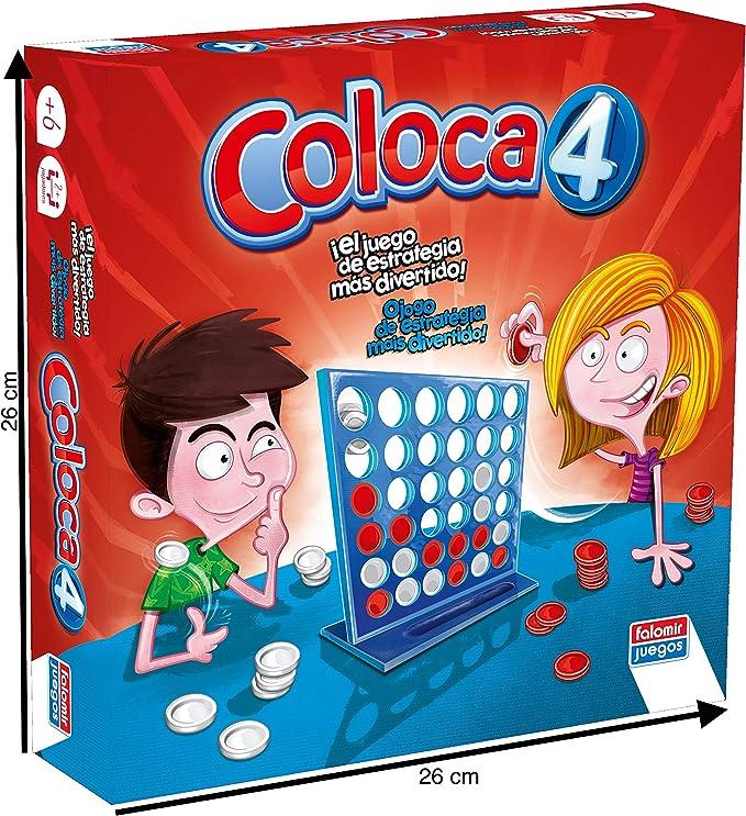 Falomir- Coloca 4 Juego de Mesa, Multicolor, única (646469): Amazon.es: Juguetes y juegos