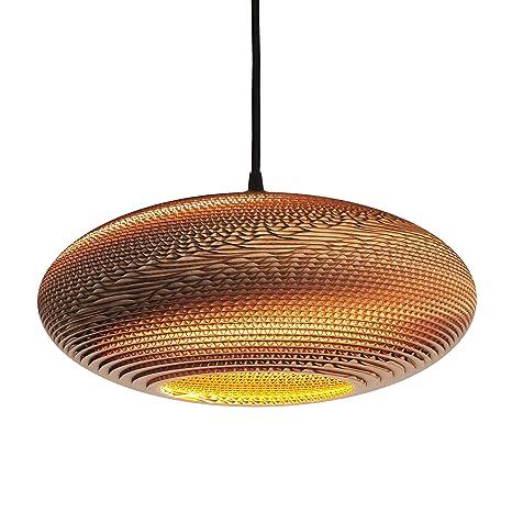 Mild 40 de Wishnya, una lámpara de techo hecha de cartón 100 ...