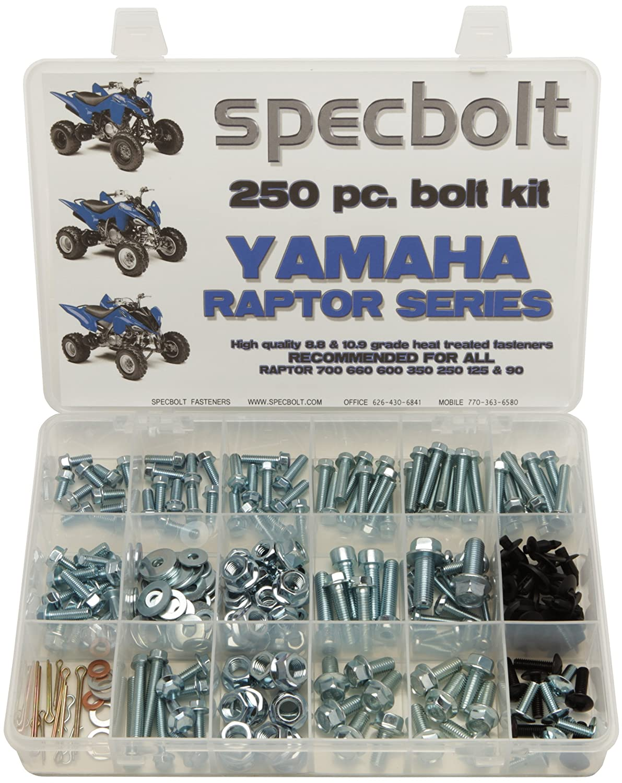 120pc Bolt Kit Yamaha Raptor ATV 90 125 250 350 600 660 700 body engine plastics