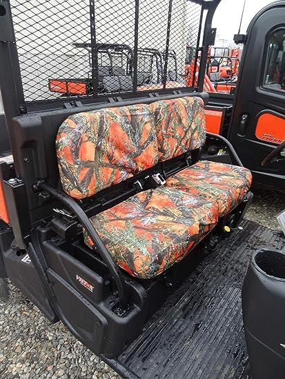 Durafit Seat Covers Kubota RTV X900, RTV X1100, RTV X1120D and 1140 Fronts  New Models Orange Camo Seat Covers