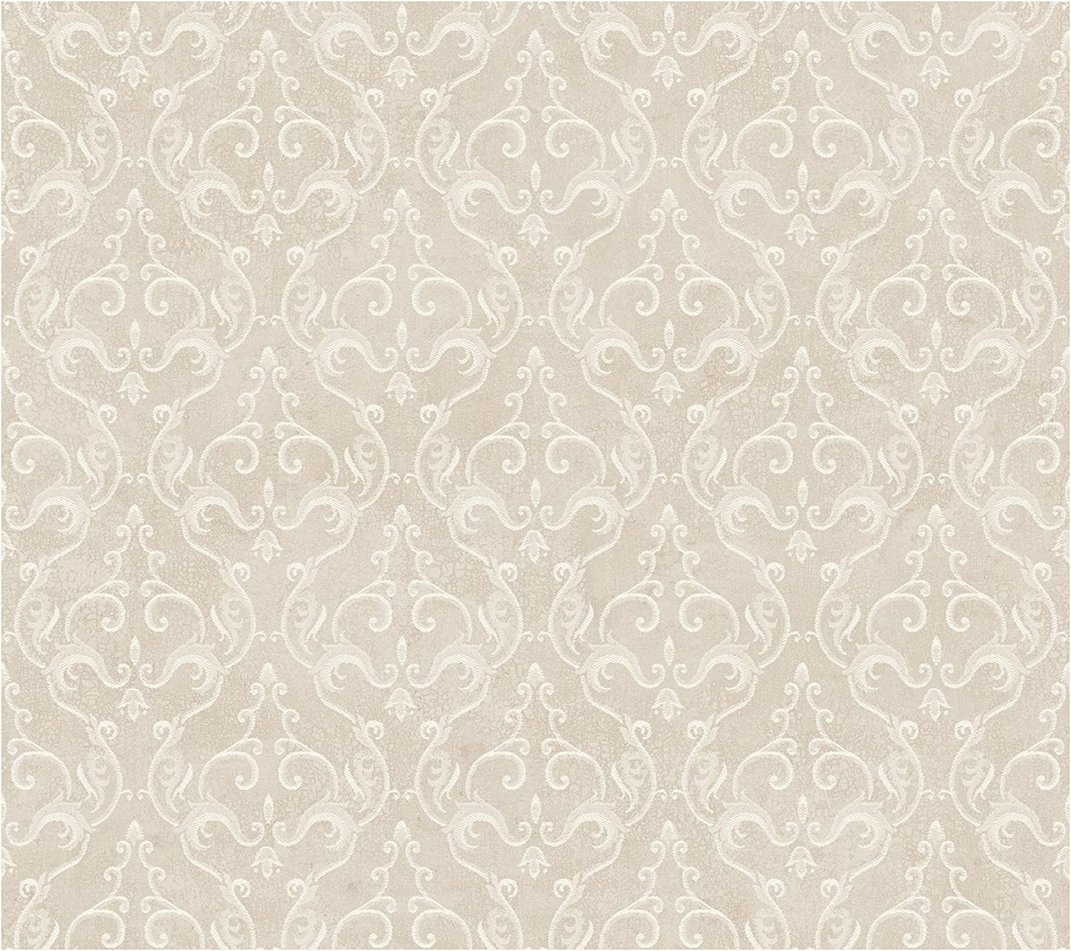 York Wallcoverings Painted Garden Delicate Scrolling Damask