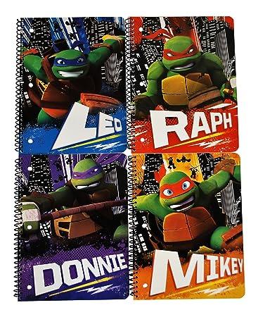 Amazon.com: Teenage Mutant Ninja Turtles 4 Wide Ruled ...