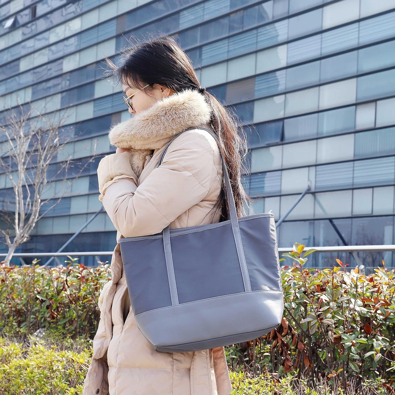 Sac Cabas Femme Nylon Preuve d/éclaboussure Grande Capacit/é Femmes Filles Sac /à Main pour le Travail Scolaire Voyage Shopping Noir Sac Cabas