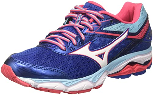 Wave Ultima Wos, Zapatillas de Running para Mujer, Multicolor (White/Pinkglo/Blueprint), 40 EU Mizuno