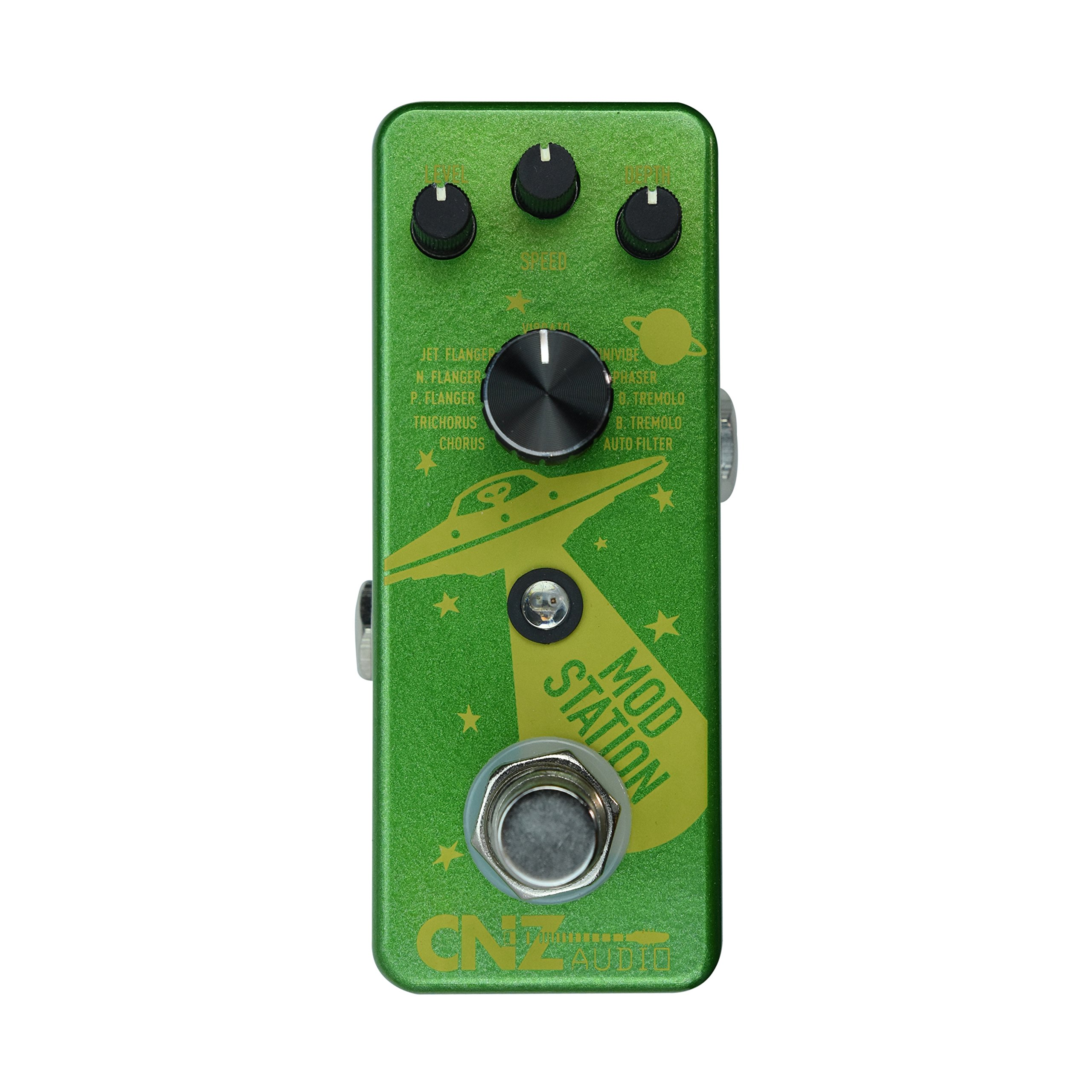 CNZ Audio Mod Station 11 Selectable Digital Modulation Guitar Effects Pedal, True Bypass