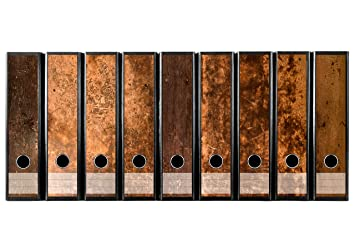 Juego con 9 pieza amplia carpeta de madera rústica etiquetas autoadhesivas archivadores Pegatinas Diseño Marrón Madera Vintage: Amazon.es: Oficina y ...