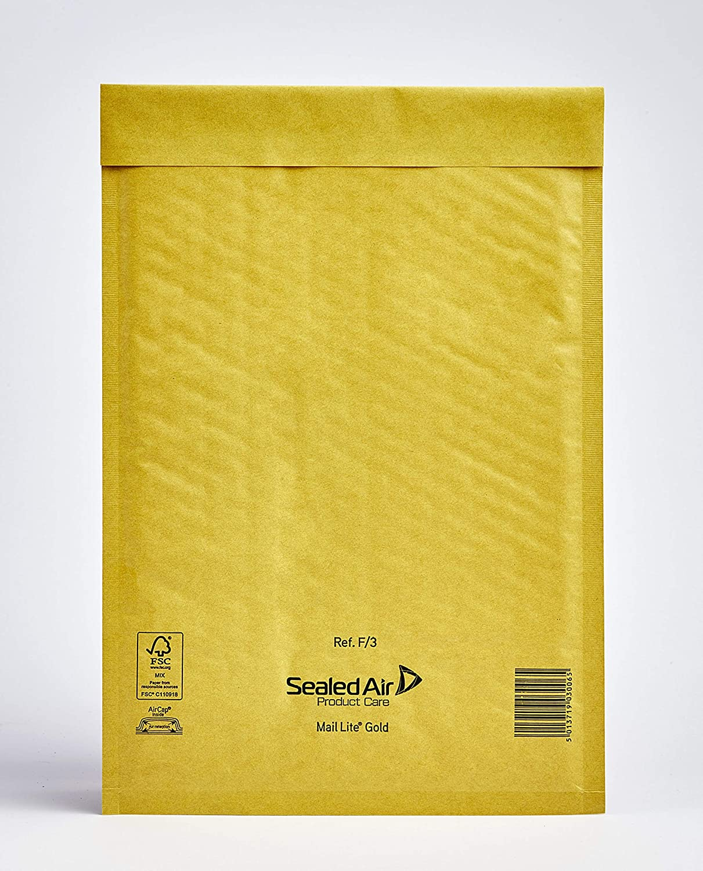 Mail Lite White Mailing Padded Postal Bags F//3 220MM X 330MM Envelopes Bx 50