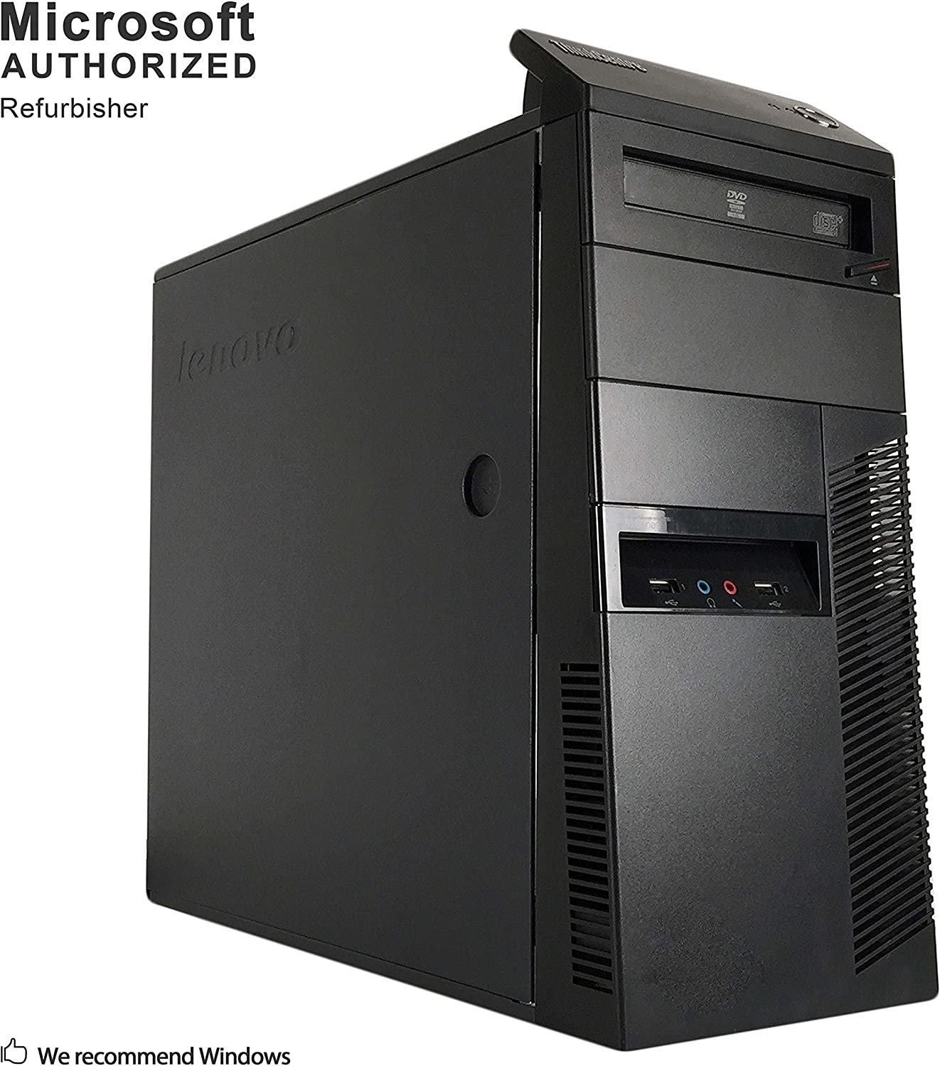 Lenovo ThinkCentre M90p Tower Desktop PC, Intel Core i5-650 up to 3.46GHz, 8G DDR3, 500G, WiFi, BT 4.0, DVD, Windows 10 64 Bit-Multi-Language Supports English/Spanish/French(Renewed)