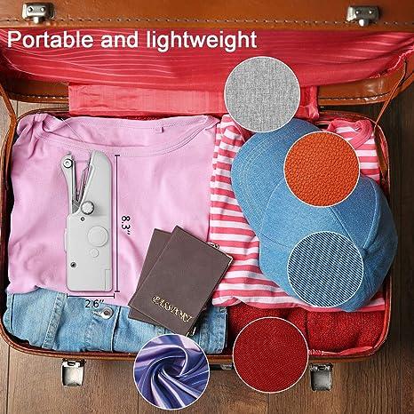Macchina da Cucire Portatile Mini per Abiti Tenda Tessuto Cordless Home Travel Macchine da Cucire