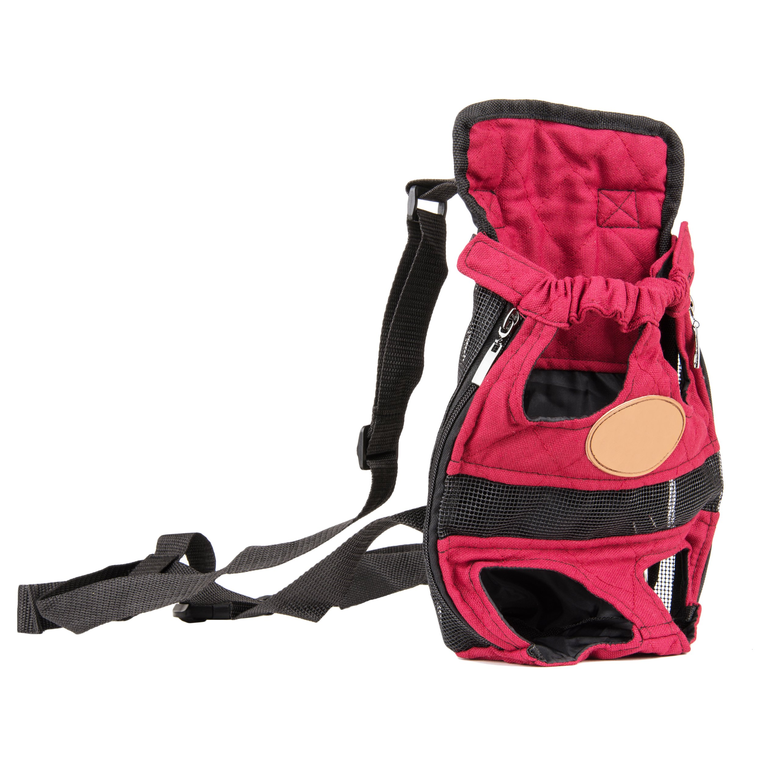 Cue Cue Pet Modernized Travel Red Pet Carrier Backpack (Large)